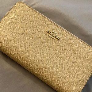 Light brown coach wallet